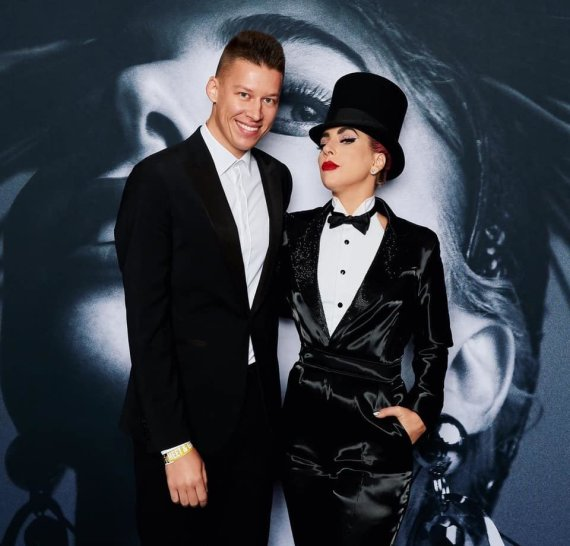 Asmeninio albumo nuotr./RImvydas Širvinskas-Makalius ir Lady Gaga
