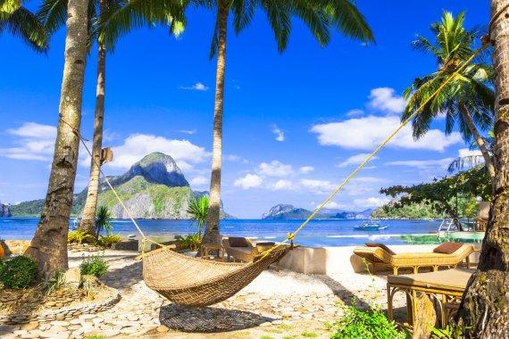 Shutterstock nuotr./Balto smėlio paplūdimys Palavano saloje, Filipinai