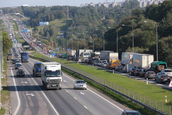 Aliaus Koroliovo/15min nuotr./Spūstys ties Kleboniškio tiltu