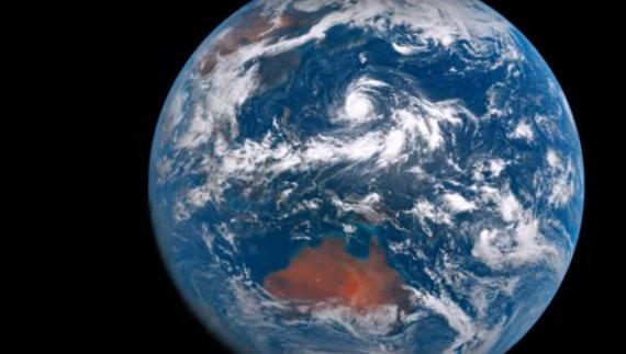 Himawari-8 nuotr./Žemė iš kosmoso