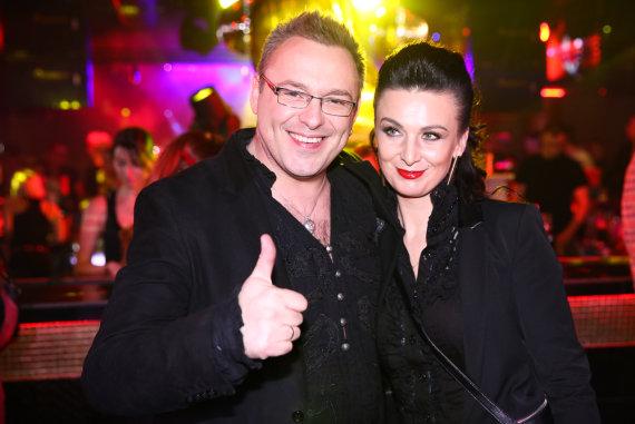 Luko Balandžio nuotr./Egmontas Bžeskas su žmona Reda