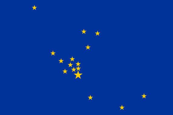 Wikipedia Commons pav./Europos Tarybos vėliavos nepatvirtintas variantas