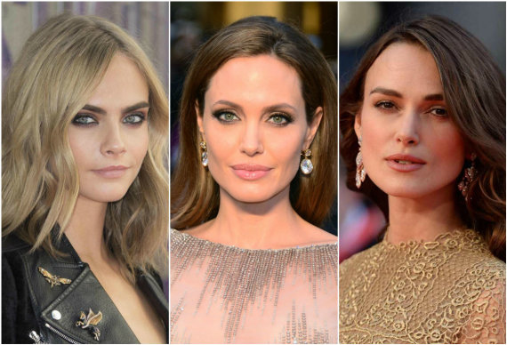 """Scanpix"" nuotr./Cara Delevingne, Angelina Jolie ir Keira Knightley"