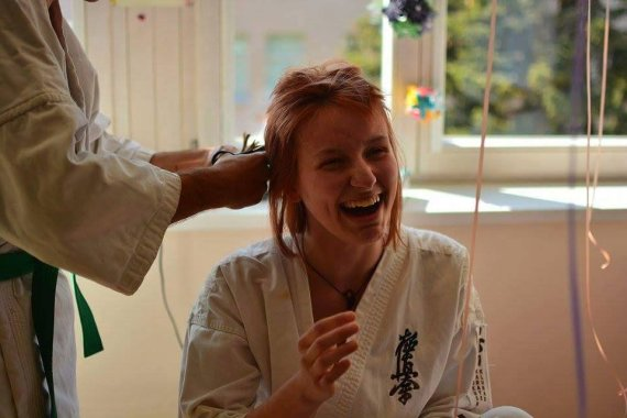 Deimantės Piraitytės nuotr./Vaivos atsisveikinimas su plaukais
