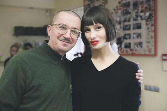 Dominykos Gucevičiūtės nuotr./Aleksandras Pogrebnojus su žmona Monika