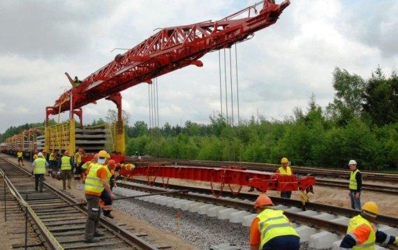 """Susisiekimo ministerijos nuotr./""""Rail Baltica"""" tiesimo darbai"""