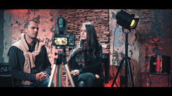 Video kadras/Marius Kiltinavičius ir Ieva Zasimauskaitė
