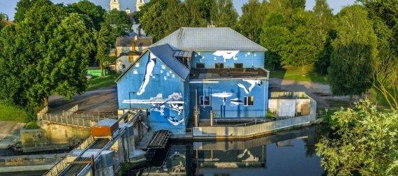 """www.lithuania.travel.lt nuotr./Niujorke gyvenančio lietuvio Ray Bartkaus kūrinys """"Tekantis gyvenimas"""""""