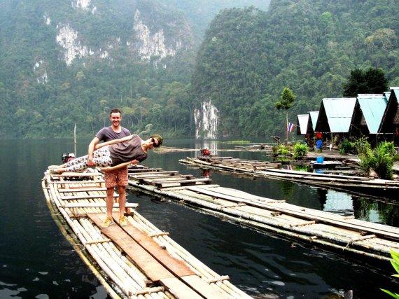 Asmeninio archyvo nuotr./Aurimas ir Eglė Kulveliai Tailande