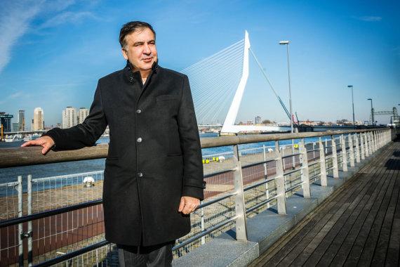 "AFP/""Scanpix"" nuotr./Michailas Saakašvilis Nyderlanduose"