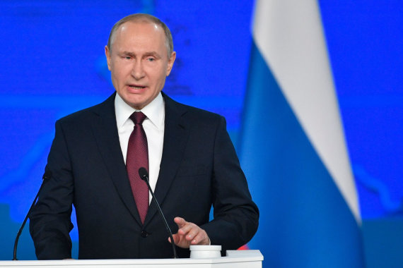 """AFP/""""Scanpix"""" nuotr./Vladimiras Putinas"""