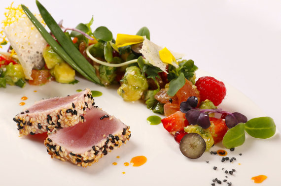 "Restorano archyvo nuotr./Restorano ""Le BonJour"" patiekalas"