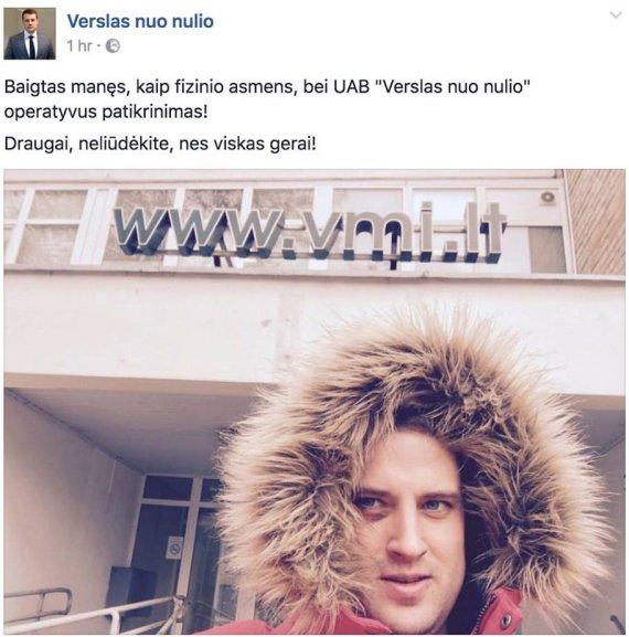 """Facebook"" nuotr./Karolis Šimkus"
