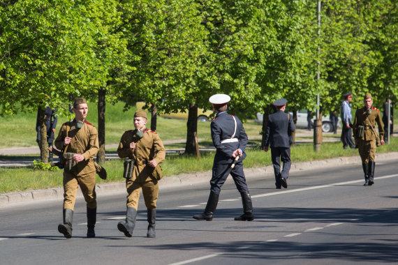 """Luko Balandžio / 15min nuotr./Fabijoniškėse filmuojamas """"Černobylis"""""""