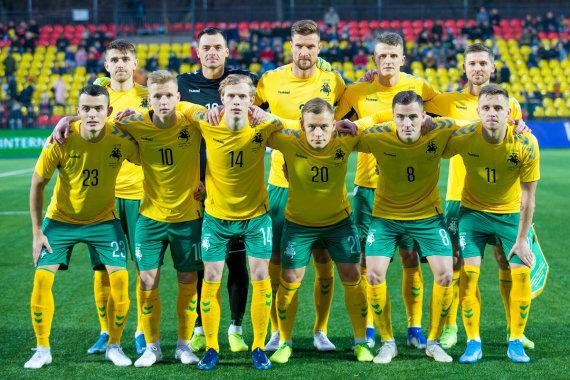 Elvio Žaldario nuotr./Lietuvos futbolo rinktinė