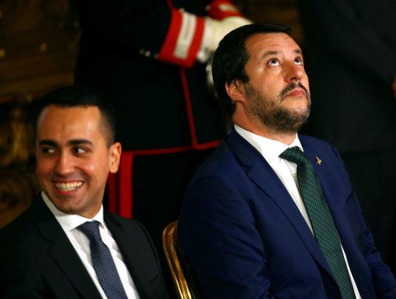 """Reuters""/""Scanpix"" nuotr./Luigi Di Maio ir Matteo Salvini"