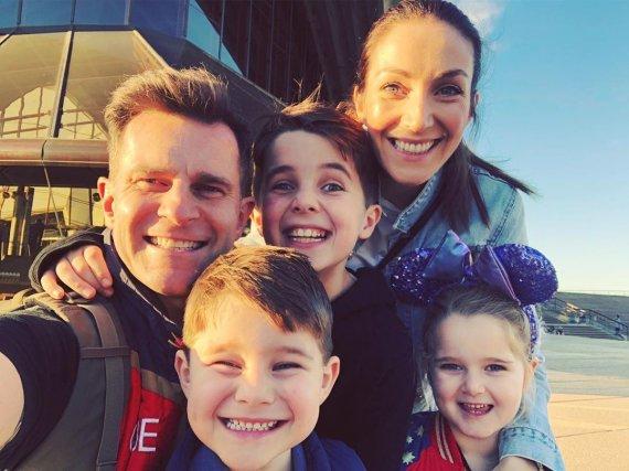 """""""Instagram"""" nuotr./Davidas Campbellas su šeima"""