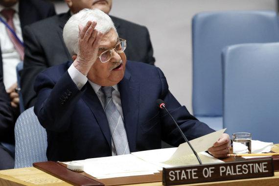 """""""Scanpix""""/""""Sipa USA"""" nuotr./Mahmudas Abbasas Jungtinėse Tautose"""