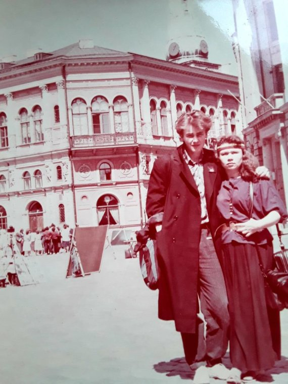 Asmeninio albumo nuotr./Baltijos kelyje dalyvavo ir Violeta Mičiulienė su vyru