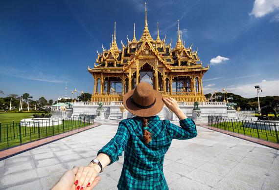 Shutterstock nuotr./Turistė Tailande
