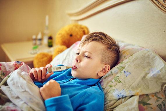 123RF.com nuotr./Karščiuojantis vaikas
