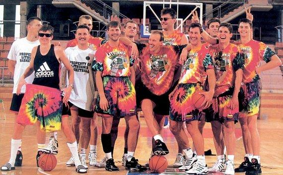 LTOK archyvo nuotr./1992 m. Lietuvos krepšininkai olimpinėse žaidynėse