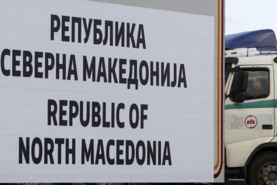 """""""Scanpix""""/AP nuotr./Makedonija oficialiai virto Šiaurės Makedonija"""