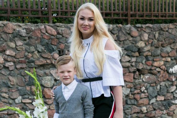 Juliaus Kalinsko / 15min nuotr./Natalija Bunkė su sūnumi Kristupu