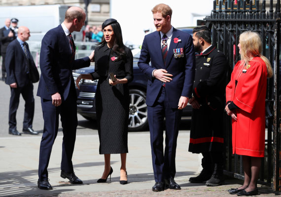 """Reuters""/""Scanpix"" nuotr./Princas Williamas, Meghan Markle ir princas Harry"