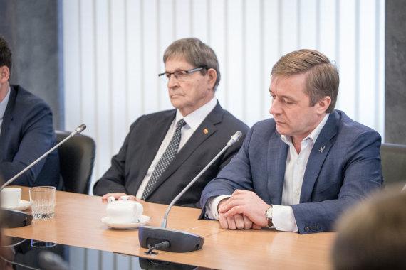 LRVK/ Dariaus Janučio nuotr./Eugenijus Jovaiša ir Ramūnas Karbauskis