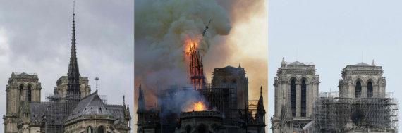 "AFP/""Scanpix"" nuotr./Gaisro nuniokota Dievo Motinos katedra"