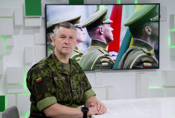 Valdo Kopūsto / 15min nuotr./Lietuvos kariuomenės vadas generolas majoras Valdemaras Rupšys