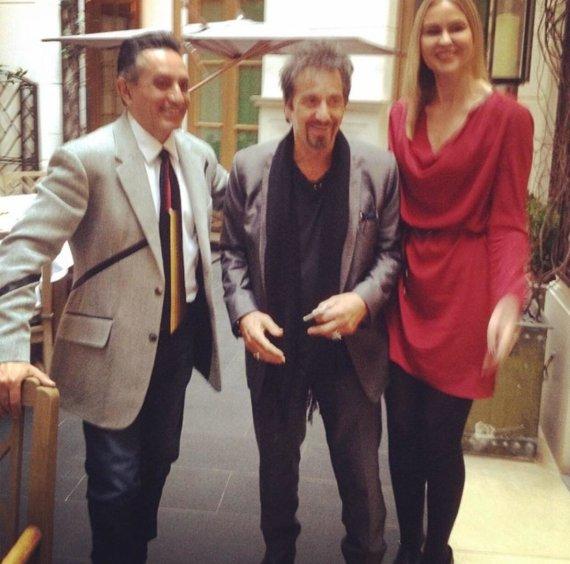 Asmeninio albumo nuotr./Al Pacino ir Karina Diglytė