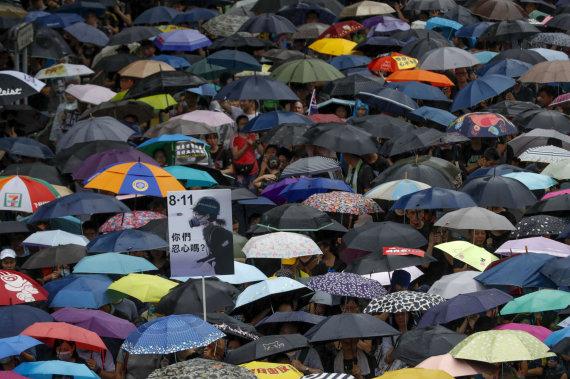 """""""Scanpix""""/AP nuotr./Honkongo protestuotojai"""