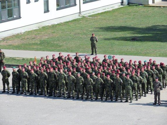Čekijos kariuomenės nuotr. /Čekijos karių inauguracijos ceremonija NATO priešakinių pajėgų batalione Rukloje