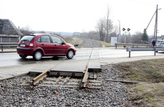 """Sigito Strazdausko (""""Santarvė"""") nuotr./Išardytas geležinkelio Rengė-Baugainiai ruožas"""