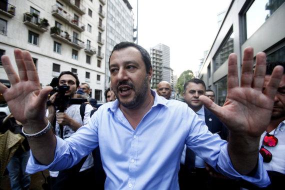 """""""Scanpix""""/""""SIPA"""" nuotr./Šiaurės lygos lyderis Matteo Salvini"""