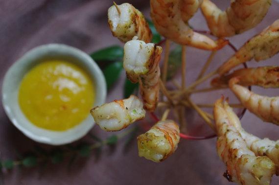 FeedMySister nuotr. /Krevetės su mango padažu