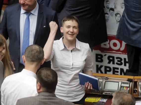 """""""Scanpix""""/AP nuotr./Nadija Savčenko Aukščiausiojoje Radoje"""