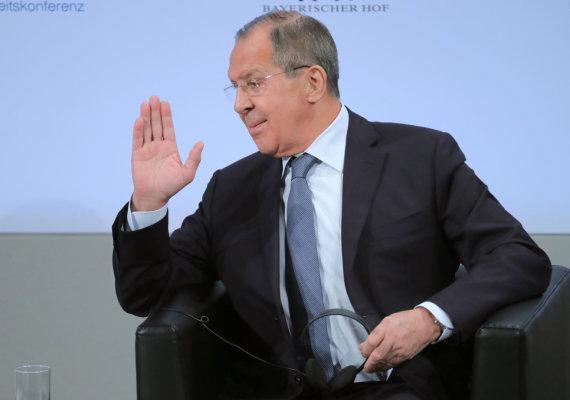 """Scanpix"" nuotr./Sergejus Lavrovas Miuncheno saugumo konferencijoje"