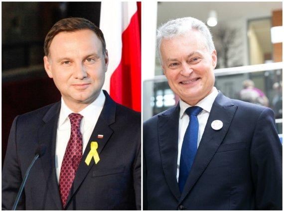 """AFP/""""Scanpix"""" ir 15min nuotr./Andrzejus Duda ir Gitanas Nausėda"""