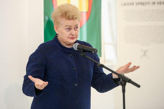 Vidmanto Balkūno / 15min nuotr./Prezidentė Dalia Grybauskaitė