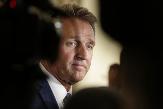 """Reuters""/""Scanpix"" nuotr./Jeffas Flake'as"