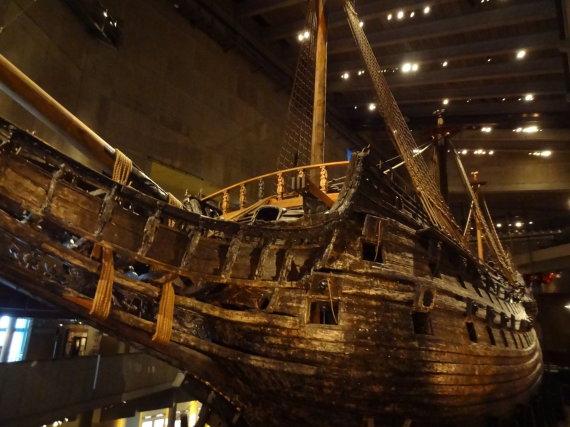 """15min.lt/Kristinos Aksamitaitės nuotr./Švedijos karališkojo karo laivynui priklausęs laivas """"Vasa"""""""
