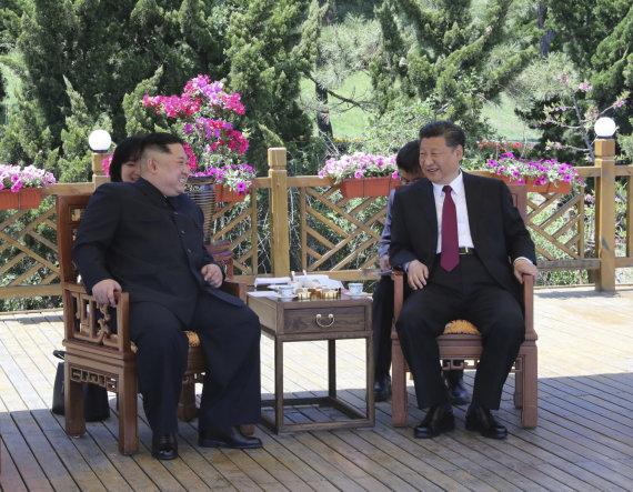 "AFP/""Scanpix"" nuotr./Kim Jong Unas ir Xi Jinpingas"