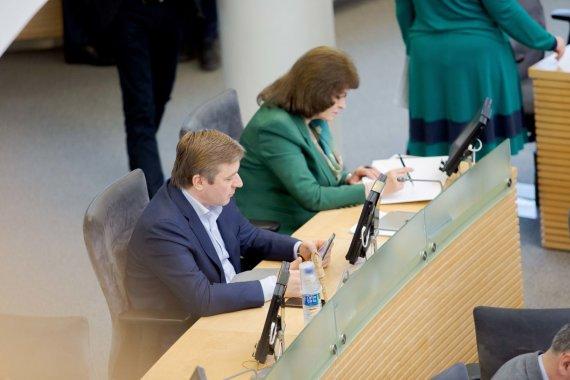 Josvydo Elinsko / 15min nuotr./Ramūnas Karbauskis ir Rima Baškienė