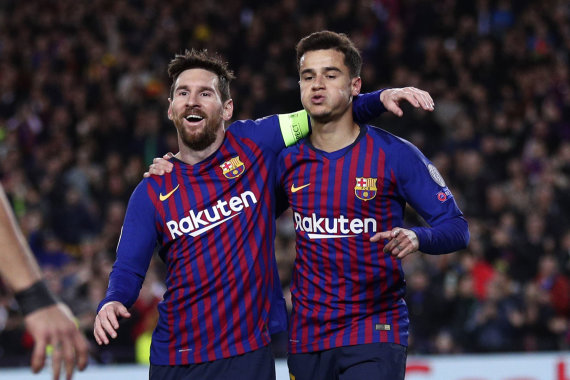 """Reuters""/""Scanpix"" nuotr./Lionelis Messi ir Philippe Coutinho"