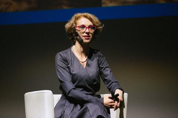 "Irmanto Gelūno / 15min nuotr./Jūratė Bortkevičienė konferencijoje ""Atsakinga tėvystė"""