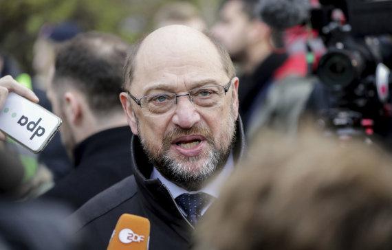 """""""Scanpix""""/AP nuotr./Vokietijos socialdemokratų lyderis Martinas Schulzas"""