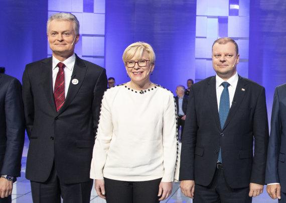 Luko Balandžio / 15min nuotr./Gitanas Nausėda, Ingrida Šimonytė, Saulius Skvernelis